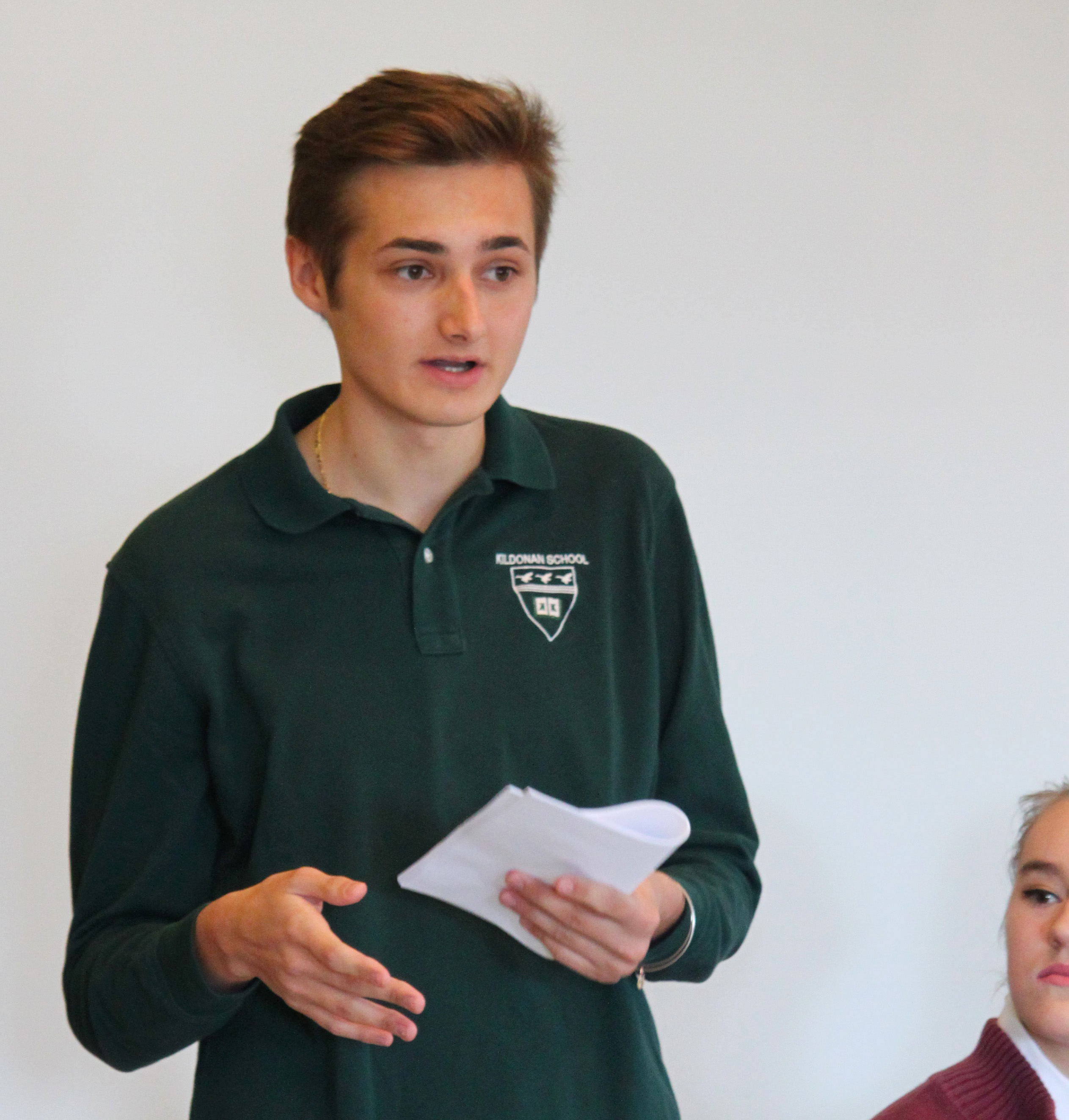 Dyslexic Student speaks at Open House.