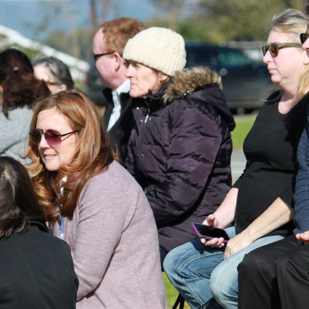Kildonan School Equestrian: Parents watching Kildonan students in the equestrian ring