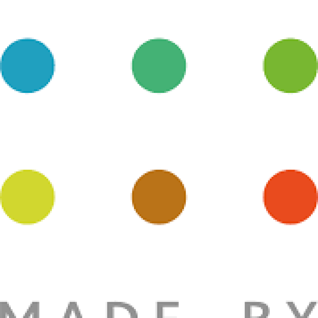 logo for Made by Dyslexia, dots in grid with words at bottom